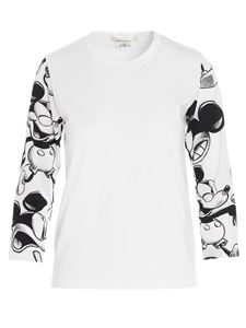 Comme Des Garçons - Mickey Mouse long sleeves T-shirt in white