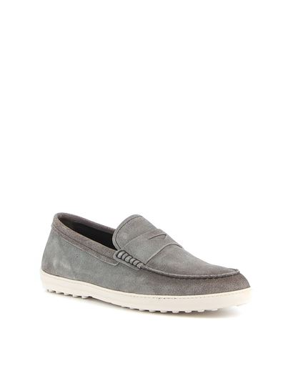 Tod's - Gradient effect loafers in grey