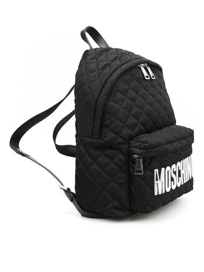 Moschino - Quilted backpack in black