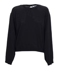 Grifoni - Back opening sweater in black