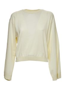 Grifoni - Back opening sweater in white