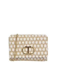 TWINSET - Faux leather trimmed bag in white