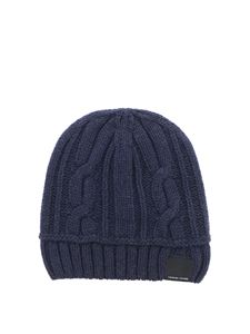 Canada Goose - Cable-knit wool beanie in blue