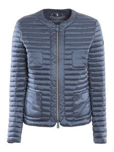 Save The Duck - Quilted padded jacket in avio blue