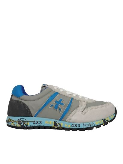 Premiata Will Be - Sky sneakers in gray and light blue