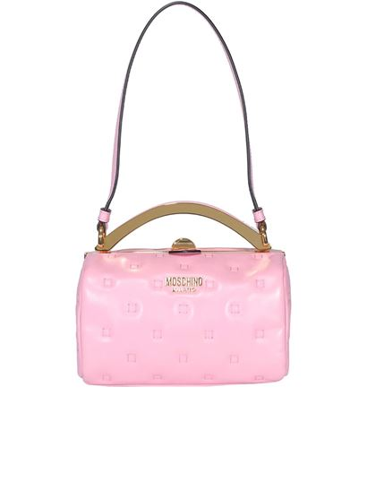 Moschino - Quilted leather bag in pink