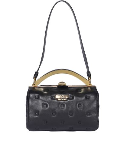 Moschino - Quilted leather bag in black