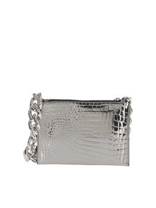 N° 21 - Clutch stampa cocco argento