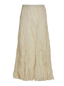 Mes Demoiselles - Chira creased effect skirt in ivory color