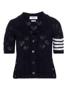 Thom Browne - Knitted cardigan in blue