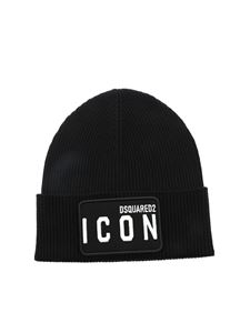 Dsquared2 - Patch Icon beanie in black