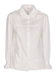 Celine - Embroidery shirt in white