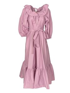 Patou - Ruffled dress in Paony color
