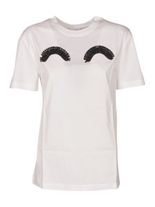 Patou - Beads embellished t-shirt in white