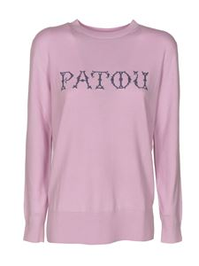 Patou - Logo sweater in Lilac color