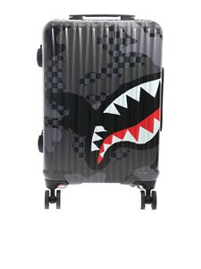 Sprayground - Contrasting print suitcase in grey and black