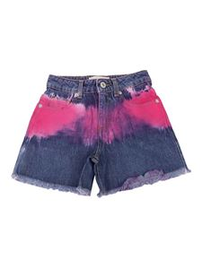 Alberta Ferretti - Colour spots denim shorts in blue