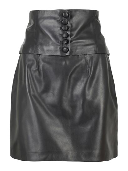 Federica Tosi - Leather dome skirt in black