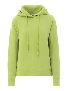 Closed - Cotton drawcord hoodie in green