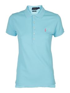 POLO Ralph Lauren - Logo embroidery polo in light blue