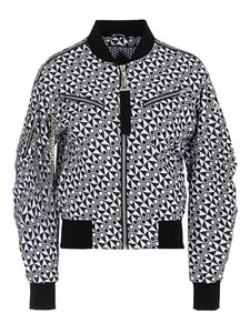 Moose Knuckles - Bomber nero con stampe