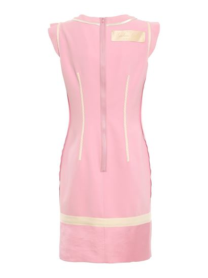 Moschino - Piqué and satin dress in pink