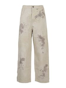 Roberto Collina - Carrot fit cotton-linen blend trousers
