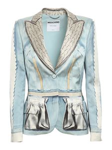 Moschino - Inside Out printed blazer in light blue