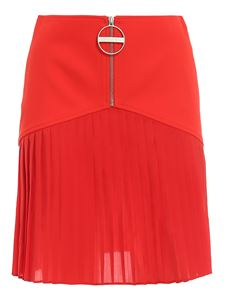 Givenchy - Wool-silk blend mini skirt in red
