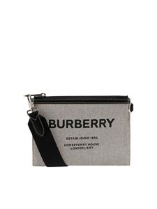 Burberry - Callum canvas crossbody in beige