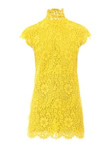 Dsquared2 - Lace mini dress in yellow