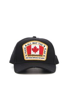 Dsquared2 - Logo patch cotton baseball cap in black