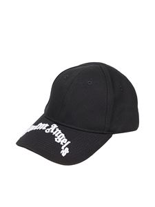 Palm Angels - Logo embroidery cap in black