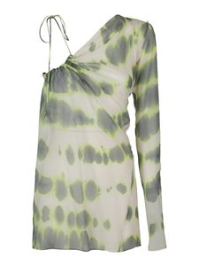 Sportmax - Tie-dye print one shoulder blouse in multicolor