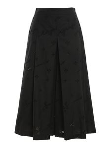 Ermanno Scervino - Broderie anglaise detailed pants in black