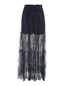 Ermanno Scervino - Chantilly lace skirt in blue