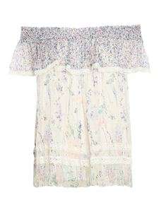 Ermanno Scervino - Floral patterned top in white