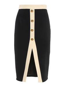 Elisabetta Franchi - Double crêpe skirt in black