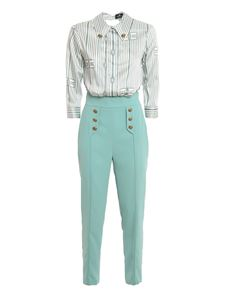 Elisabetta Franchi - Marine knot print jumpsuit in light blue
