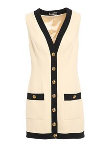 Elisabetta Franchi - Double crêpe dress in cream color