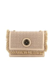 Elisabetta Franchi - Tweed crossbody bag in beige