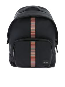 Paul Smith - Zaino nero con inserto multicolore