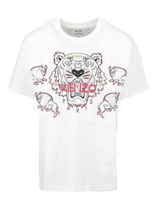 Kenzo - Tiger embroidery T-shirt in white