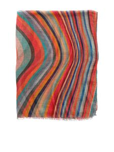 Paul Smith - Sciarpa multicolore con frange