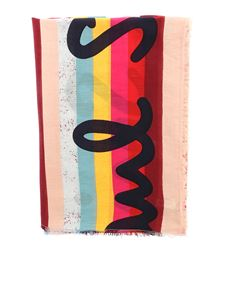 Paul Smith - Sciarpa multicolore a righe con logo