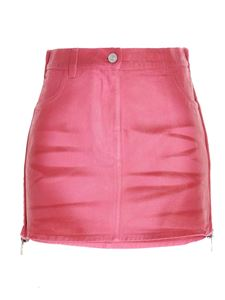 Givenchy - Zipped denim skirt in fuchsia