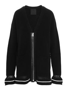 Givenchy - Zipped cardigan in black