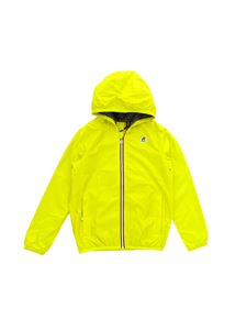 K-way - Giubbino giallo lime con logo