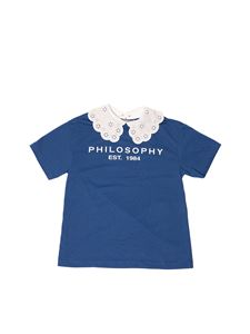 Philosophy di Lorenzo Serafini - T-shirt logo blu Philosophy by LS Kids