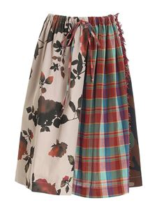 Semicouture - Beatrice patchwork skirt in multicolor